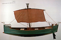 World Civiiization:  Ancient Ships--Philistine warship of 12th C.  B.C.  Where are the oarsmen?