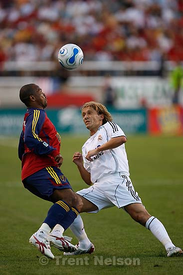 Real Salt Lake vs. Real Madrid soccer at Rice-Eccles Stadium.; 8.12.2006<br />