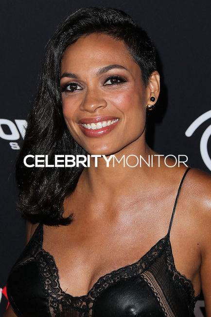 HOLLYWOOD, LOS ANGELES, CA, USA - AUGUST 19: Rosario Dawson at the Los Angeles Premiere Of Dimension Films' 'Sin City: A Dame To Kill For' held at the TCL Chinese Theatre on August 19, 2014 in Hollywood, Los Angeles, California, United States. (Photo by Xavier Collin/Celebrity Monitor)