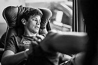 Esteban Chaves (COL/ORICA-Scott) relaxed in teh teambus<br /> <br /> 104th Tour de France 2017<br /> Stage 8 - Dole &rsaquo; Station des Rousses (187km)