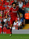 Liverpool's Mohamed Salah in action during the premier league match at Anfield Stadium, Liverpool. Picture date 27th August 2017. Picture credit should read: Paul Thomas/Sportimage