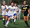 Paulina Valentine #11 of Kellenberg chases after a loose ball during a non-league varsity girls soccer game against host Wantagh High School on Saturday, Sept. 29, 2018. She broke a scoreless tie with a goal in the 58th minute of play (17:12 into second half). Kellenberg went on to win 3-0.