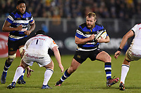 Scott Andrews of Bath Rugby in possession. Anglo-Welsh Cup match, between Bath Rugby and Leicester Tigers on November 10, 2017 at the Recreation Ground in Bath, England. Photo by: Patrick Khachfe / Onside Images