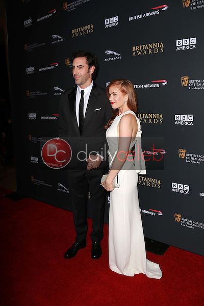 Sacha Baron Cohen, Isla Fisher<br /> at the 2013 BAFTA LA Jaguar Britannia Awards, Beverly Hilton Hotel, Beverly Hills, CA 11-09-13<br /> Dave Edwards/DailyCeleb.com 818-249-4998