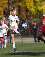 Boston College midfielder Kristen Mewis (19) attempts to control the ball. Boston College defeated Marist College, 6-1, in NCAA tournament play at Newton Campus Field, November 13, 2011.