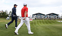 Andy Sullivan (ENG) and Matthew Fitzpatrick (ENG) step onto the 15th during Round Two of the 100th Open de France, played at Le Golf National, Guyancourt, Paris, France. 01/07/2016. Picture: David Lloyd | Golffile.<br /> <br /> All photos usage must carry mandatory copyright credit (&copy; Golffile | David Lloyd)