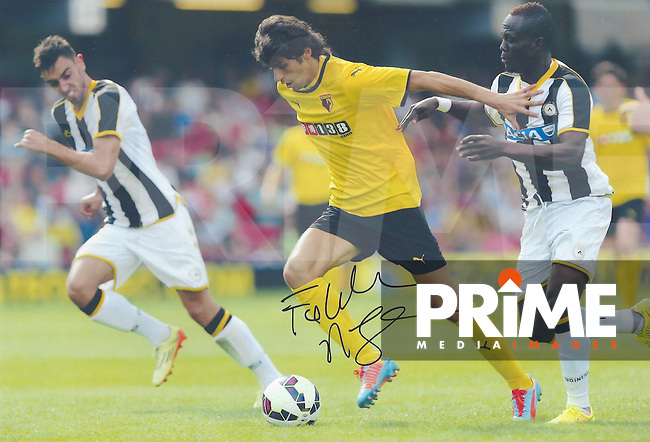 Diego Fabbrinni Signed Photos at Vicarage Road, Watford, England on August 2014. Photo by Andy Rowland.