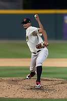 Visalia Rawhide relief pitcher Luis Castillo (8) during a California League game against the Rancho Cucamonga Quakes on April 9, 2019 in Visalia, California. Visalia defeated Rancho Cucamonga 8-5. (Zachary Lucy/Four Seam Images)