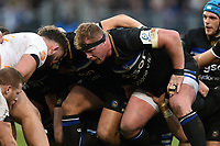 Jacques van Rooyen of Bath Rugby prepares to scrummage against his opposite number. Heineken Champions Cup match, between Bath Rugby and Wasps on January 12, 2019 at the Recreation Ground in Bath, England. Photo by: Patrick Khachfe / Onside Images