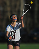 Nicole Mormile #10 of Cold Spring Harbor takes a pass during a Nassau County varsity girls lacrosse game against Long Beach at Cold Spring Harbor High School on Wednesday, April 18, 2018. Cold Spring Harbor won by a score of 13-2.