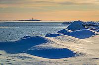 Vinter vid havet Torö Nynäshamn i Stockholms södra skärgård.