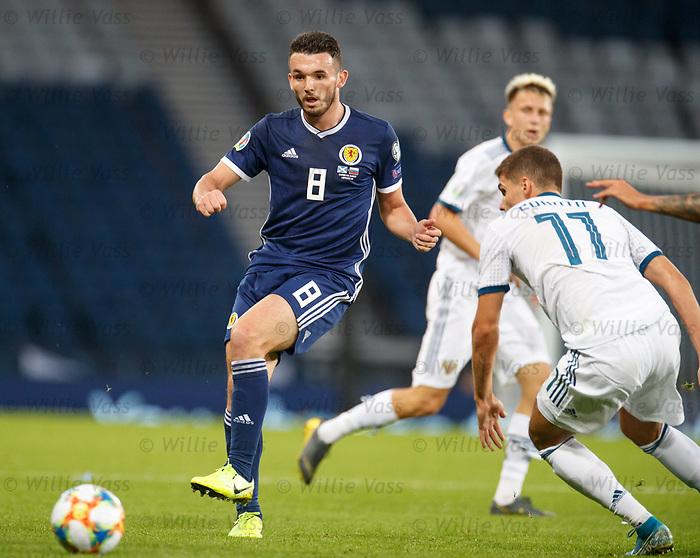 06.09.2019 Scotland v Russia, European Championship 2020 qualifying round, Hampden Park:<br /> John McGinn