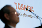 Toshiba Corp. President Satoshi Tsunakawa attends a news conference at the company's headquarters on March 14, 2017, Tokyo, Japan. Tsunakawa said that Toshiba could sell its majority stake in Westinghouse in the U.S. as part of a plan to return the business to growth, and he also said that Toshiba would delay for a second time the announcement of its earnings for the October-December period due to auditing problems. (Photo by Rodrigo Reyes Marin/AFLO)