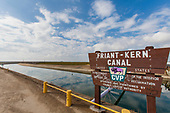 The Friant-Kern Canal is an irrigation canal and part of the Central Valley Project aqueduct. Delano, Kern County, San Joaquin Valley, California, USA