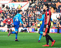Héctor Bellerín of Arsenal scores and celebrates with Danny Welbeck of Arsenal during AFC Bournemouth vs Arsenal, Premier League Football at the Vitality Stadium on 14th January 2018