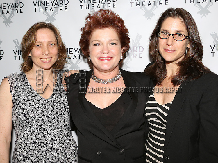 Jenny Schwartz, Kate Mulgrew, Anne Kaufman attending the Opening Night After Party for the Vineyard Theatre Production of 'Somewhere Fun' at the Vineyard Theatre in New York City on June 04, 2013.
