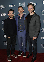 www.acepixs.com<br /> <br /> January 3 2017, LA<br /> <br /> (L-R) Charlie Day, Rob McElhenney, Glenn Howerton arriving at the premiere of FXX's 'It's Always Sunny In Philadelphia' Season 12 and 'Man Seeking Woman' Season 3 at the Fox Bruin Theatre on January 3, 2017 in Los Angeles, California. <br /> <br /> By Line: Peter West/ACE Pictures<br /> <br /> <br /> ACE Pictures Inc<br /> Tel: 6467670430<br /> Email: info@acepixs.com<br /> www.acepixs.com