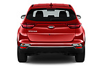 Straight rear view of a 2020 KIA Sportage LX 5 Door SUV stock images