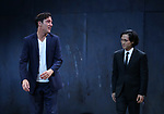 Clive Owen and Jin Ha during the Broadway Opening Night performance Curtain Call for 'M. Butterfly' on October 26, 2017 at Cort Theater in New York City.