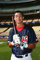 August 9 2008: Jiovanni Mier participates in the Aflac All American baseball game for incoming high school seniors at Dodger Stadium in Los Angeles,CA.  Photo by Larry Goren/Four Seam Images