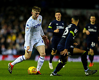 Leeds United's Jack Clarke takes on Derby County's Max Lowe<br /> <br /> Photographer Alex Dodd/CameraSport<br /> <br /> The EFL Sky Bet Championship -  Leeds United v Derby County - Friday 11th January 2019 - Elland Road - Leeds<br /> <br /> World Copyright &copy; 2019 CameraSport. All rights reserved. 43 Linden Ave. Countesthorpe. Leicester. England. LE8 5PG - Tel: +44 (0) 116 277 4147 - admin@camerasport.com - www.camerasport.com