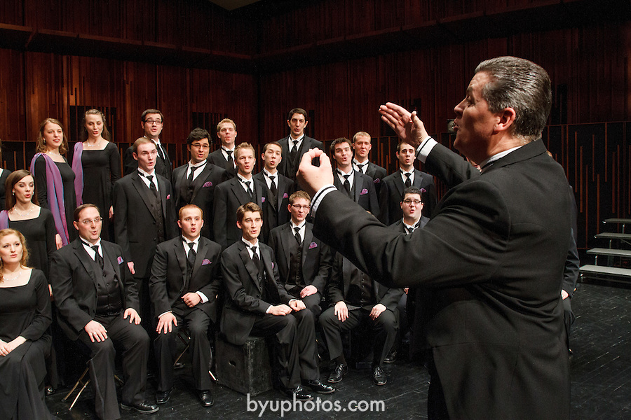 1202-05 027.CR2<br /> <br /> BYU Singers group photo and action. deJong Concert Hall. Directed by Ron Staheli<br /> <br /> February 1, 2012<br /> <br /> Photography by Mark A. Philbrick<br /> <br /> Copyright BYU Photo 2012<br /> All Rights Reserved<br /> photo@byu.edu  (801)422-7322