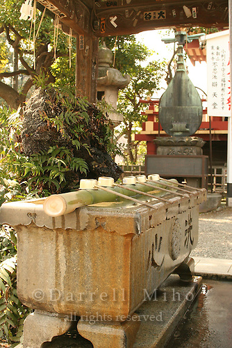 Mar 8, 2006; Tokyo, JPN; Ueno.Purification fountain at the Gojo Tenjinsha.  Ueno Park...Photo credit: Darrell Miho