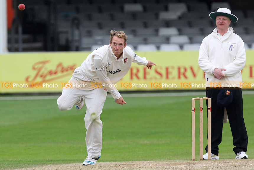 Tom Westley of Essex in bowling action - Essex CCC vs Kent CCC - Pre-Season Friendly Cricket Match at the Essex County Ground, Chelmsford - 04/04/14 - MANDATORY CREDIT: Gavin Ellis/TGSPHOTO - Self billing applies where appropriate - 0845 094 6026 - contact@tgsphoto.co.uk - NO UNPAID USE