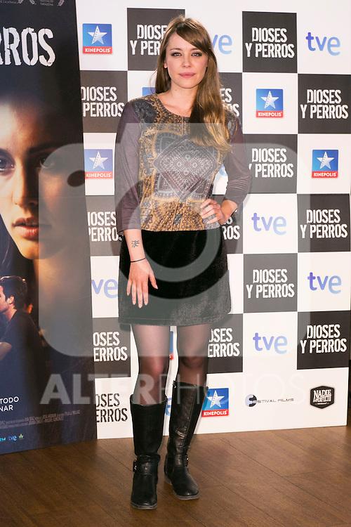 """Miriam Benoit attends the """"DIOSES Y PERROS """" Movie presentation at Kinepolis Cinema in Madrid, Spain. October 6, 2014. (ALTERPHOTOS/Carlos Dafonte)"""