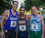 Dominic Henriques (3rd), Lupe Cabada (1st) and Conner Cashner (2nd) in the 51st Annual Journal Jog at Idlewild Park in Reno on Sunday, Sept. 8, 2019.