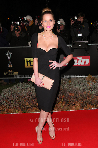 Helen Flanagan arriving for The Sun Military Awards, at The Imperial War Museum, London. 06/12/2012 Picture by: Alexandra Glen / Featureflash