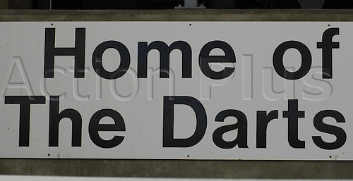 06.11.2010 FA Cup 1st Round from Princes Park,Dartford v Port Vale. Sign in Dartfords ground. Dartford drew 1-1 with Port Vale