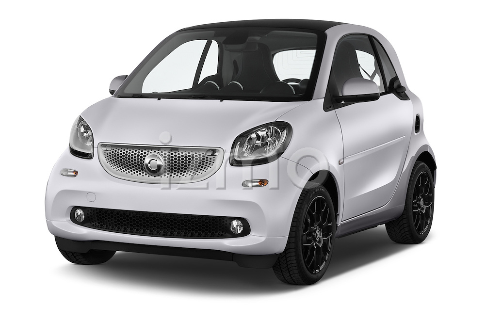 2016 Smart fortwo prime 3 Door Micro Car Angular Front stock photos of front three quarter view