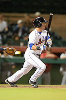 Scottsdale Scorpions catcher Cam Maron (3), of the New York Mets organization, during an Arizona Fall League game against the Salt River Rafters on October 9, 2013 at Scottsdale Stadium in Scottsdale, Arizona.  Salt River defeated Scottsdale 12-2.  (Mike Janes/Four Seam Images)