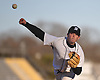 Will O'Brien #13 of Wantagh snaps off a pitch in the top of the fifth inning of a Nassau County varsity baseball game against Hewlett at Wantagh High School on Tuesday, Apr. 5, 2016. He pitched a complete game and struck out 12 batters in Wantagh's 9-4 win.