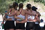 MAY 28, 2016: The Gonzaga crew meet before racing at Lake Natoma in Gold River, Ca. on Saturday May 28, 2016