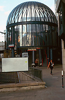 London:  Docklands, Docklands Light Rail--Tower Bridge Station.  Photo '90.