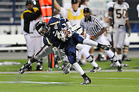 22 November 2008:  FIU wide receiver T.Y. Hilton (4) breaks away from a ULM defender in the ULM 31-27 victory over FIU at FIU Stadium in Miami, Florida.