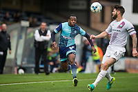 Myles Weston of Wycombe Wanderers during the Sky Bet League 2 match between Wycombe Wanderers and Barnet at Adams Park, High Wycombe, England on 22 October 2016. Photo by Andy Rowland.