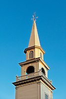 Church steeple and spire, Connecticut, CT, USA
