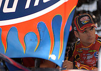 Mar 31, 2007; Martinsville, VA, USA; Nascar Nextel Cup Series driver Jeff Gordon (24) during practice for the Goody's Cool Orange 500 at Martinsville Speedway. Martinsville marks the second race for the new car of tomorrow. Mandatory Credit: Mark J. Rebilas