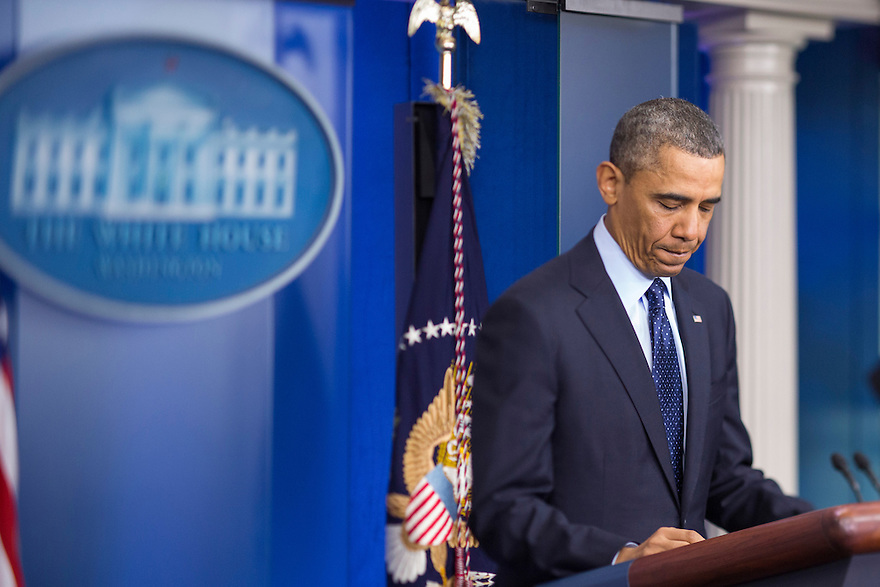 U.S. President Barack Obama speaks about the sequester after a meeting with congressional leaders at the White House in Washington. Obama pressed the U.S. Congress on Friday to avoid a government shutdown when federal spending authority runs out on March 27th.