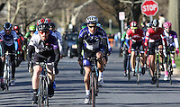 Penn State's Paul Girgis at the start of the Men's D1 of the Penn State Frat Row Criterium of the Eastern Collegiate Cycling Conference Championships on April 26, 2015. Photo'© 2015 Craig Houtz