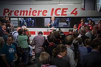 Praesentation des ICE 4 am Mittwoch den 14. September 2016 im Berliner Hauptbahnhof.<br /> Im Bild: Ruediger Grube, Vorstandsvorsitzender der Deutschen Bahn AG.<br /> 14.9.2016, Berlin<br /> Copyright: Christian-Ditsch.de<br /> [Inhaltsveraendernde Manipulation des Fotos nur nach ausdruecklicher Genehmigung des Fotografen. Vereinbarungen ueber Abtretung von Persoenlichkeitsrechten/Model Release der abgebildeten Person/Personen liegen nicht vor. NO MODEL RELEASE! Nur fuer Redaktionelle Zwecke. Don't publish without copyright Christian-Ditsch.de, Veroeffentlichung nur mit Fotografennennung, sowie gegen Honorar, MwSt. und Beleg. Konto: I N G - D i B a, IBAN DE58500105175400192269, BIC INGDDEFFXXX, Kontakt: post@christian-ditsch.de<br /> Bei der Bearbeitung der Dateiinformationen darf die Urheberkennzeichnung in den EXIF- und  IPTC-Daten nicht entfernt werden, diese sind in digitalen Medien nach §95c UrhG rechtlich geschuetzt. Der Urhebervermerk wird gemaess §13 UrhG verlangt.]