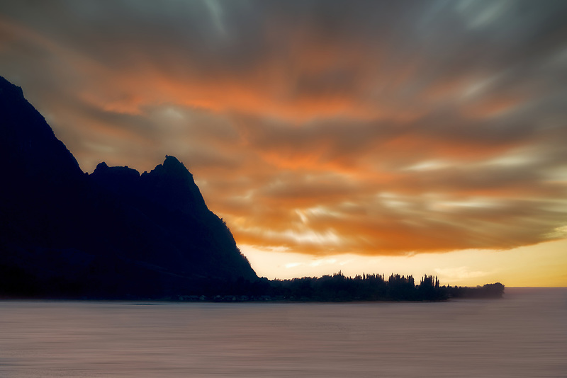 Hanalei Bay and Bali Hai. (Mekana Mountain). Kauai, Hawaii