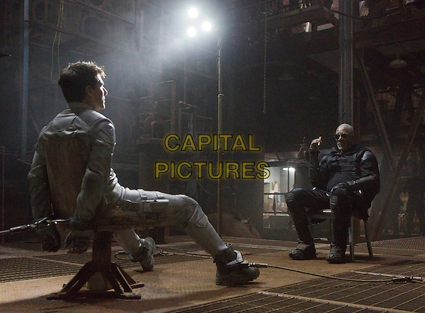 Tom Cruise, Morgan Freeman<br /> in Oblivion (2013) <br /> *Filmstill - Editorial Use Only*<br /> CAP/NFS<br /> Image supplied by Capital Pictures