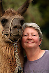 Woman with llama