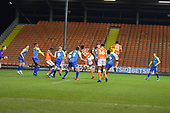 18/12/18 The Emirates FA Cup, 2nd Round Replay Blackpool v Solihull Moor<br /> <br /> Armand Gnanduillet scores Blackpool's first goal