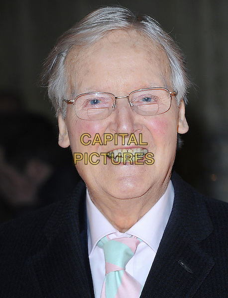 Nicholas Parsons.'Cirque Du Soleil: Totem' UK Premiere, Royal Albert Hall, London, England..5th January 2012.headshot portrait black pink glasses.CAP/BEL.©Tom Belcher/Capital Pictures..