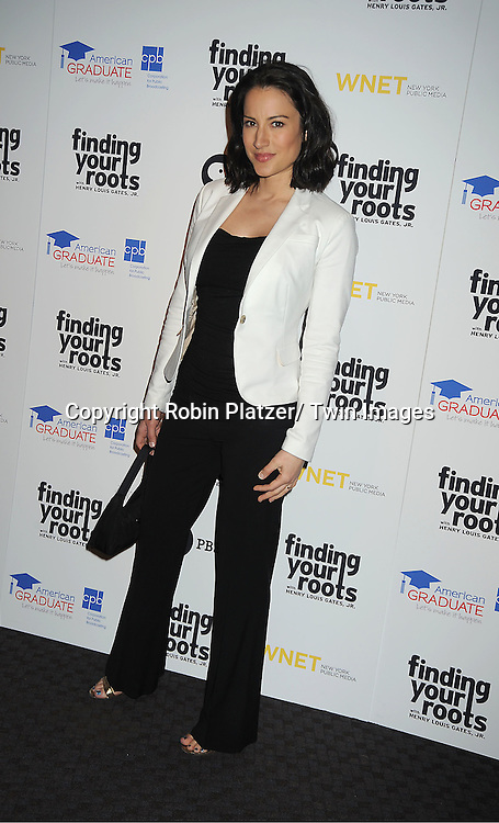 "America Olivo attend the PBS""s Finding Your Roots with Henry Louis Gates, Jr  Premiere screening   at The Allen Room at Frederick P Rose Hall in New York City on March 19, 2012."